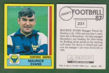 Oxford United Maurice Evans 231